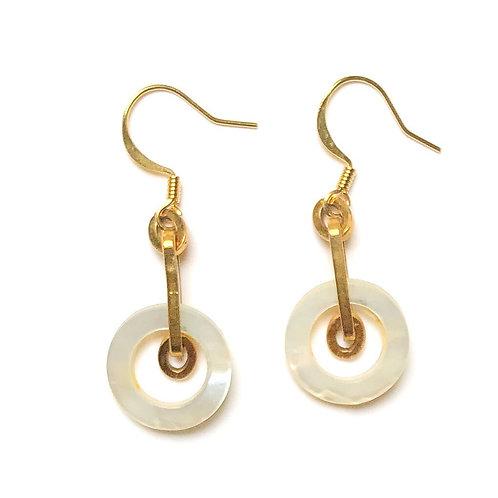 Mother of Pearl Ring Earrings II