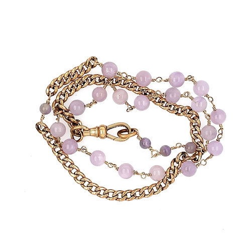 Victorian Chain and Amethyst Wrap Bracelet