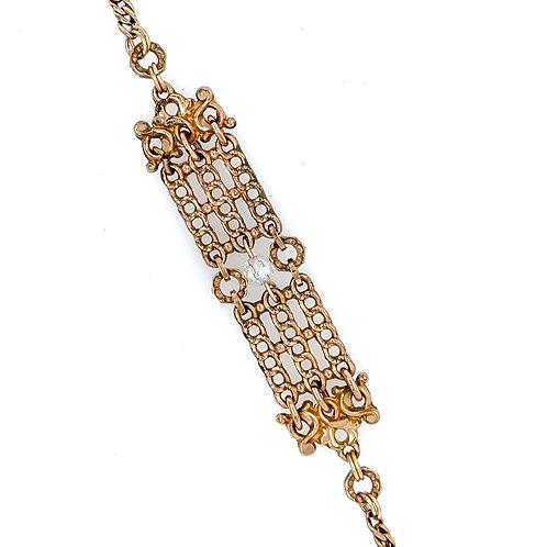 Fob Bracelet with Rock Crystal