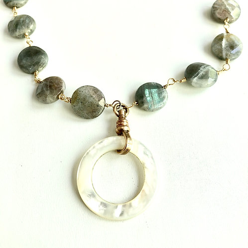 Antique Mother of Pearl Circle