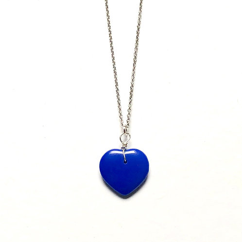 True Blue Sterling Chain and Charm