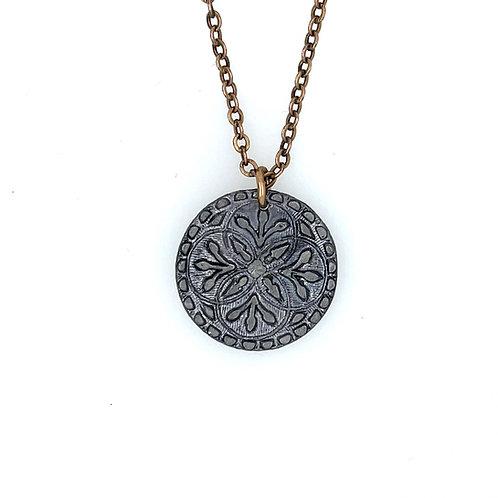 Antique Button Charm Necklace