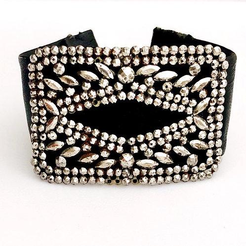 Cut Steel Cuff Bracelet