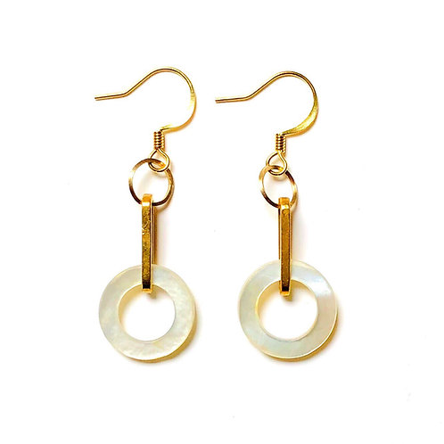 Mother of Pearl Ring Earrings I