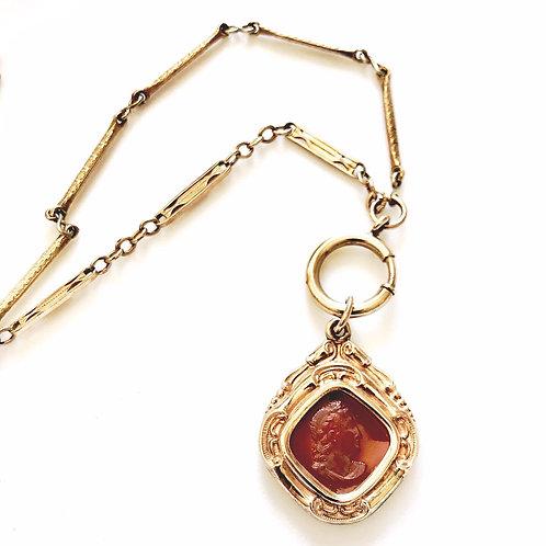Antique Charm & Chain Assemblage