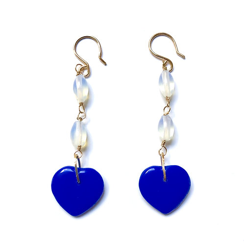 True Blue Moonstone Earrings