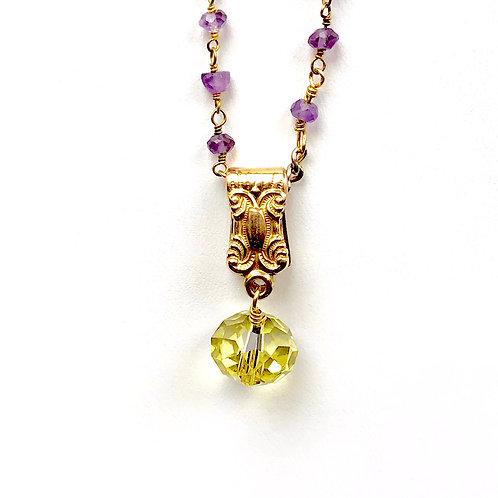 Fob Clip & Lemon Swarovski Crystal wholesale