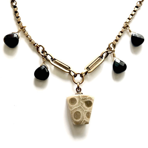 Fossilized Coral Charm Necklaces