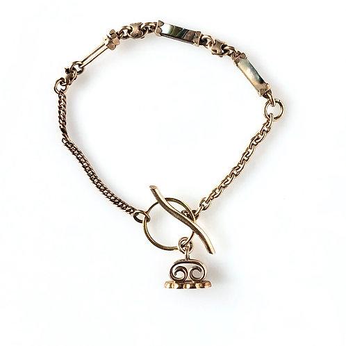 Antique Chain & Wax Seal Charm Bracelet