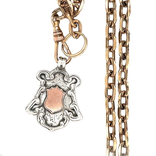 Sterling Silver and Rose Gold Award Charm