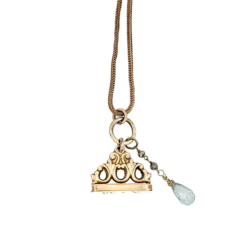 Victorian Watch Fob, Clip & Chain