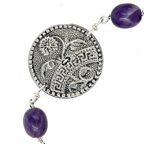 Victorian Marigold Button Bracelet