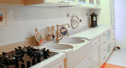 Lavello Gran Casa e piani cucina realizzati su misura