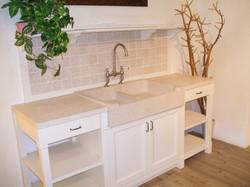 Lavello Gran Cucina e piani realizzati su misura