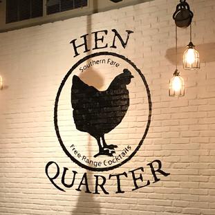 Hen Quarter Hand Painted Mural