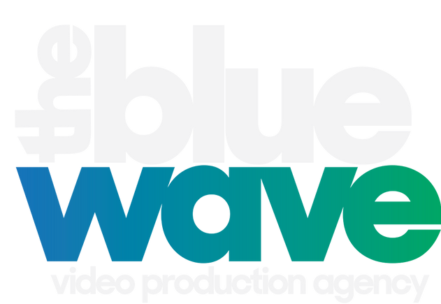 2018 White The Blue Wave Logo Blue Text