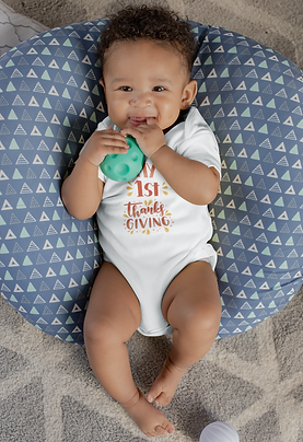 """""""1st Thanksgiving"""" Baby Bodysuit - Personalize Me!"""