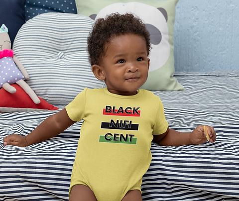 Blacknificent Baby Onesie