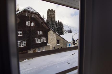 View From Window Sust Lodge Andermatt