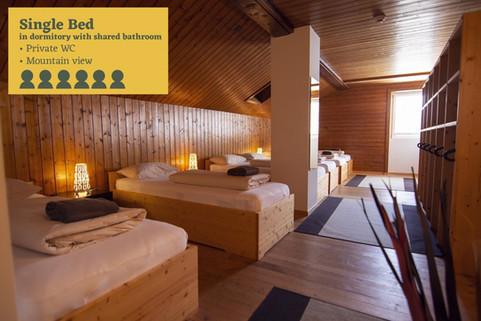 single bed Sust lodge Andermatt