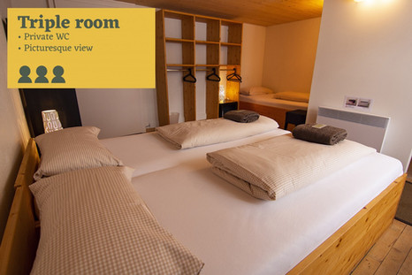 Tripple room Sust Lodge Andermatt