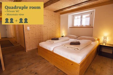 Quadruple room Sust Lodge Andermatt
