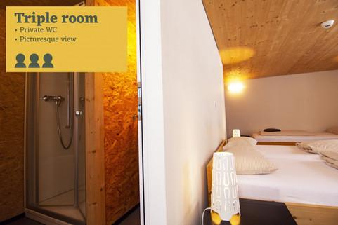 Triple room Sust lodge Andermatt