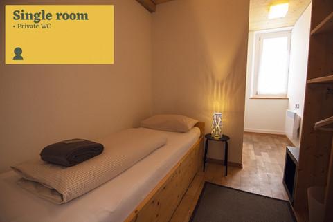 Single room Sust Lodge Andermatt