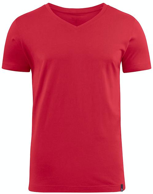 T-shirt col V mixte