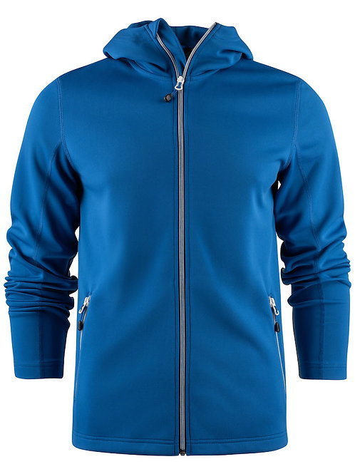 Veste à capuche full zip stretch homme