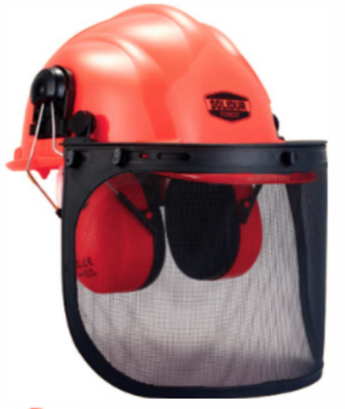 Casque complet forestier