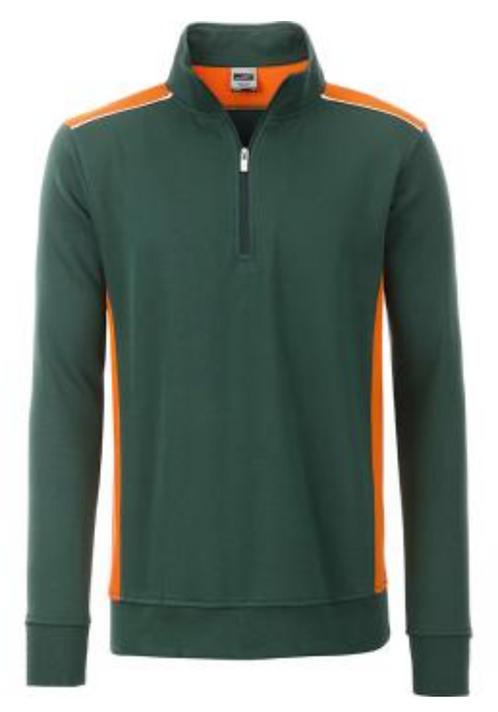 Sweat-shirt demi-zip