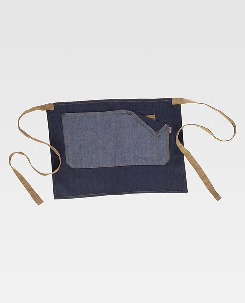 Tablier court canvas et jean