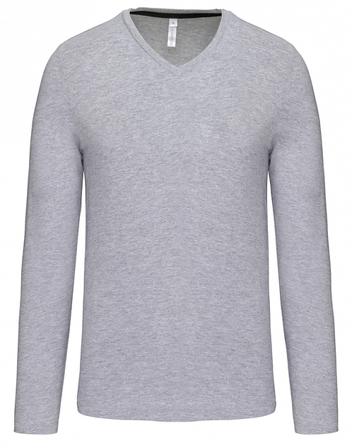 T-shirt homme col V manches longues