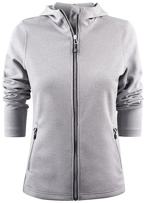 Veste à capuche full zip stretch femme