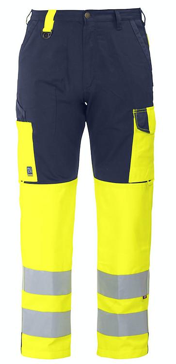Pantalon HV avec poches genouillères et Cordura - EN ISO 20471 CL-2