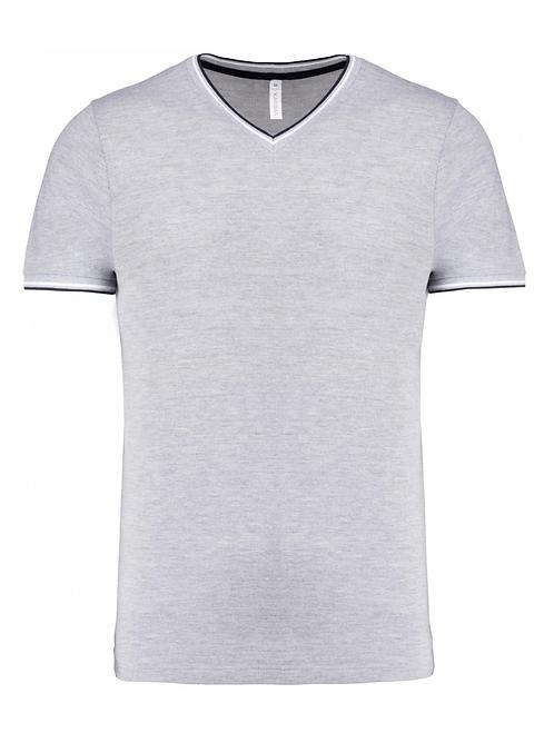 T-shirt maille piquée col V