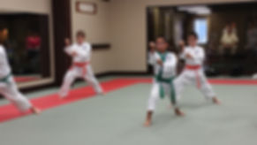 Children learn to set goal at C. S. Kim Karate a Traditional Korean Martial Art.