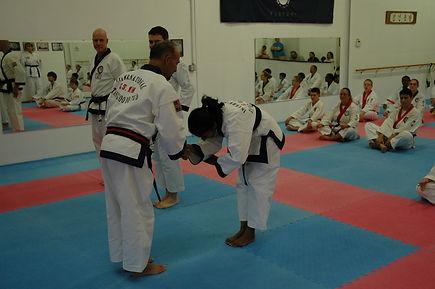 C. S. Kim Karate and teaching respect!