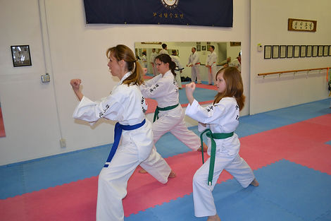 Families can benefit from taining together at C. S. Kim Karate.