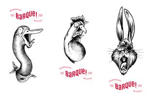 Illustration pour les etiquettes de la Microbrasserie La Barque!