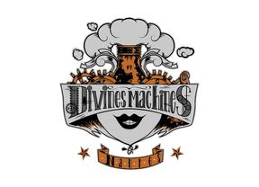 Logo pour l'équipe de roller derby nantaise Les Divines Machines.