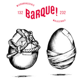 """Artwork for the Ovùm 1 beer, Microbrasserie La Barque brewery. It is a SMASH Harvest (beer brewed with a single type of malt, Vienna from the Yec'Hed Malt plantation and a single type of hemp, Chinook from the """"À l'air houblonné"""" hemp plantation.  Designed in collaboration with Atelier Shiroï."""