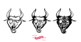 Design for the Bos Bellicus beer.