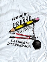 Poster design for the Week of the Press at the French highschool, Lycée Français de San Francisco.