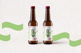 Anser succubus est du style Hopfenweizen, un style hybride fusionnant une bière de blé de style allemand (Hefeweizen) et une bière rafraichissante très houblonnée aux arômes d'agrumes et de fruits exotiques.  photo © Atelier Shiroï 2018