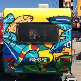Fresque réalisée avec l'association Motiv'Action sur le site de Transfert