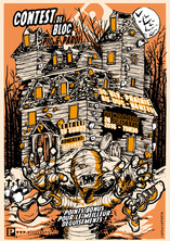 Design for the 2016 Halloween climbing contest for the rock climbing gym Pic & Paroi.  www.picetparoi.fr