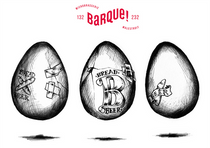 """Artworl for the Ovùm 2, for Microbrasserie La Barque brewery. Twenty percent of the malt used for this beer was gathered from various unsold bread from the organic bakery """"Le jour du Pain"""" (Saint-Planchers, Basse-Normandie, France). Designed in collaboration with Atelier Shiroï."""