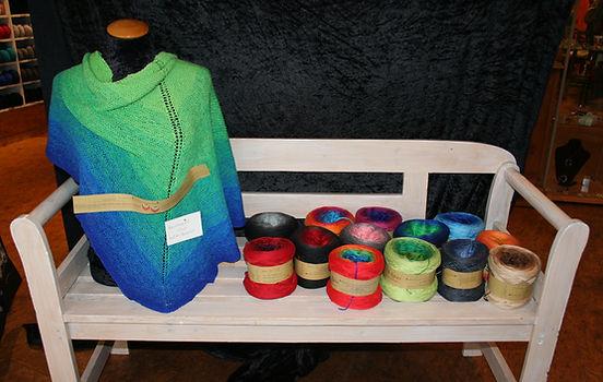 Bobbelwolle in verschiedenen Farben